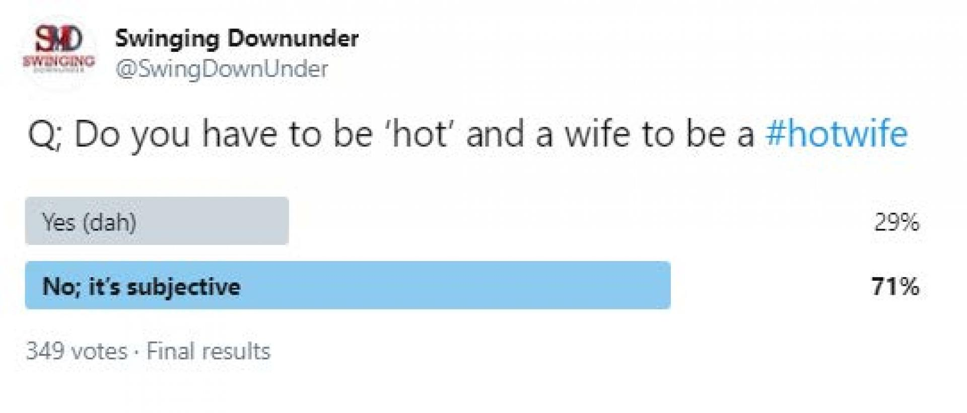 Do you have to be 'hot' and a 'wife' to be a #hotwife?