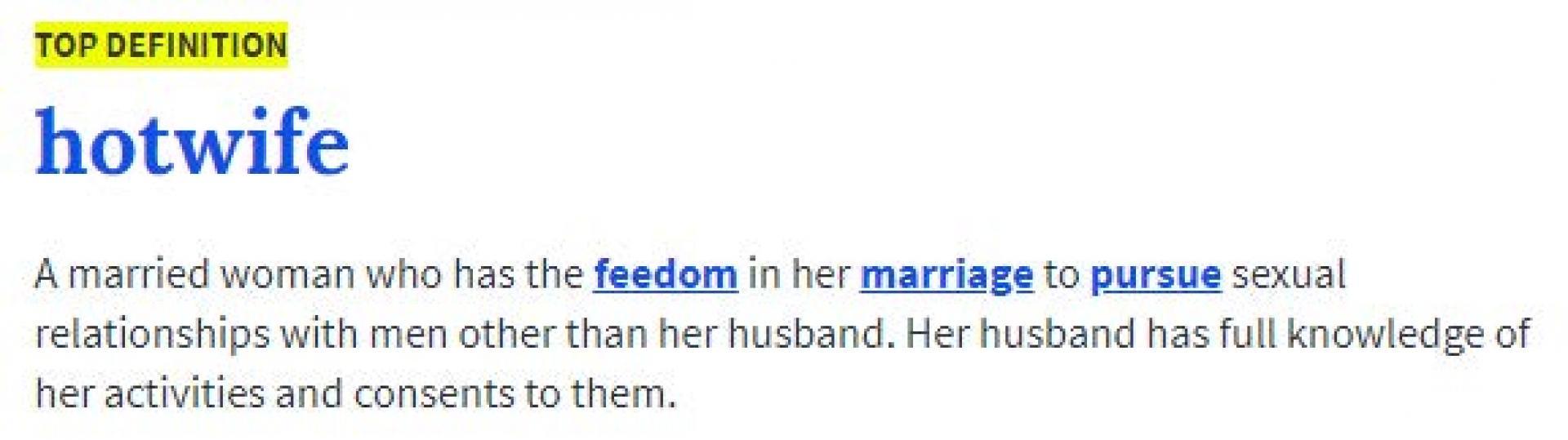 Urban Dictionary Hotwife Definition