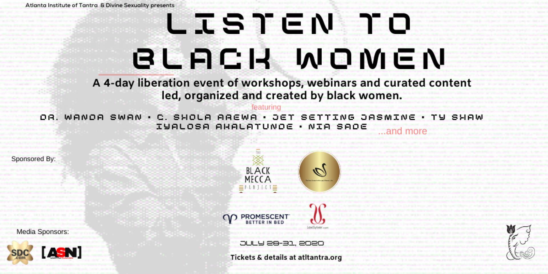 SDC Listen to Black Women Summit Banner