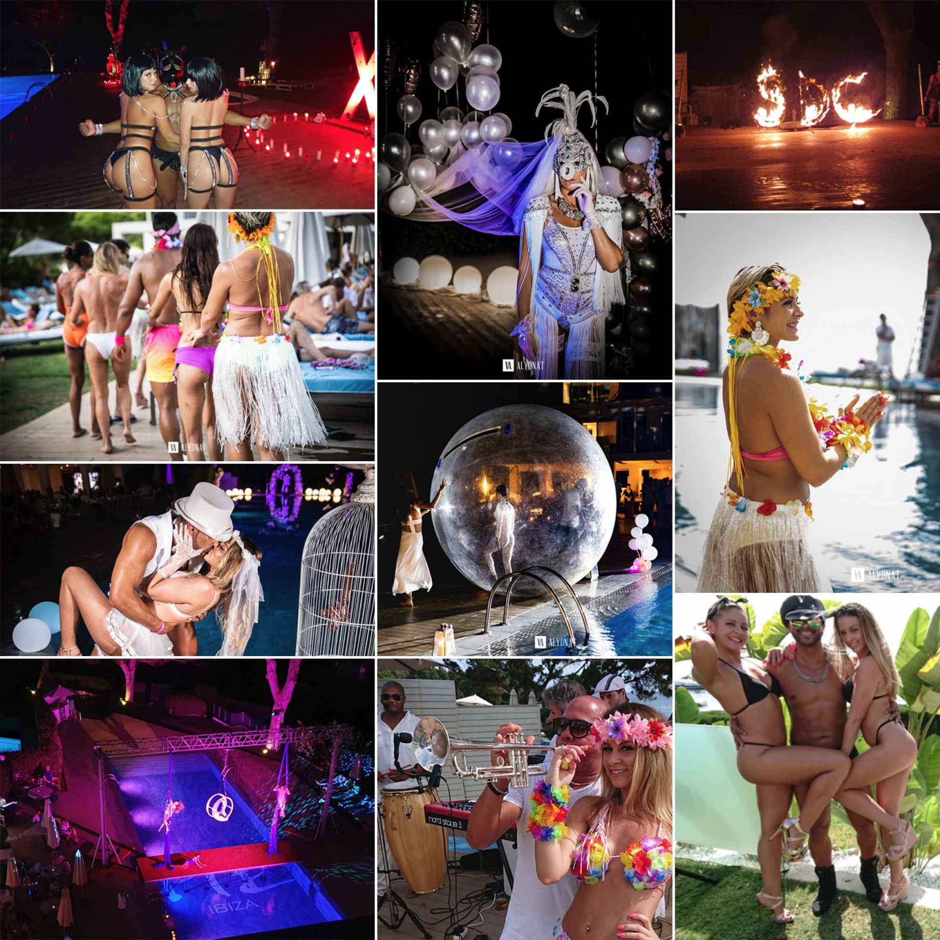 ibiza collage